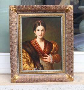 MASUCH - Maler 20. Jhdt. - Dame mit Hermelin - Antea nach Parmigianino um 1535