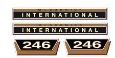 IHC / Mc Cormick Aufkleber international 246 Gold Logo Emblem Sticker Label kurz