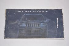 2002 JEEP GRAND CHEROKEE OWNERS MANUAL BOOK