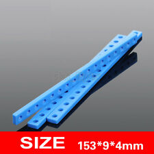 3pcs 153mm Blue Plastic Connect Strip Shaft Axis Frame For Robotic Car Model Toy