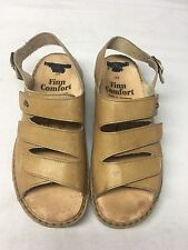 Finn Comfort Sandals Tan Leather Women's 8.5 Made in Germany