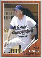 WALT ALSTON LOS ANGELES DODGERS 1962 STYLE  CUSTOM MADE BASEBALL CARD BLANK