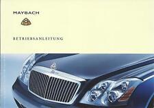 MAYBACH 57 / 57S  62 Betriebsanleitung 2005 Bedienungsanleitung Handbuch 240 BA