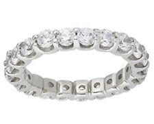 "1 carat Round Diamond Eternity Band Platinum ""U"" shape Ring, size 5.5, F Vs"