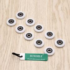 10x Single Replacement Shower Door Rollers/Runners/Wheels Dia 23mm Wheel