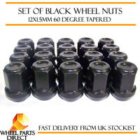 Alloy Wheel Nuts Black (20) 12x1.5 Bolts for Ford Mondeo [Mk4] 07-14