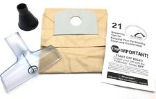 PetVac Grooming Vacuum Cleaner Attachments Liquid Drain Unclog Tool w/ 5ct Bags