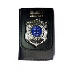 Portafoglio/Portadocumenti con Placca Color Argento per Guardia Giurata