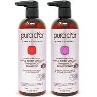 PURA D'OR Dor Apple Cider Vinegar Biotin Shampoo & Conditioner Sulfate Free Set