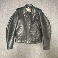 Schott 80's 618 perfecto leather jacket double riders Black size 34 beautiful
