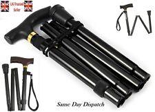 Walking Sticks Easy Folding Adjustable Light Weight Aluminium Sticks UK Seller