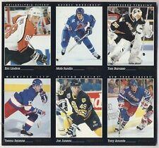 1993-94 Pinnacle Hockey Card Promo Panel Uncut Sheet Lindros Sundin Selenne