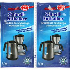 ORO fix Schnell Entkalker Pulver Entkalkung für Wasserkocher Kaffeemaschinen b3