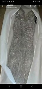 New with Tags Prom Dress / Ball Gown Jovani Silver Size 8