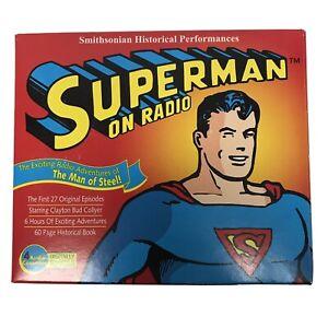 SMITHSONIAN HISTORICAL PERFORMANCES SUPERMAN ON RADIO BOX SET 4 CASSETTES