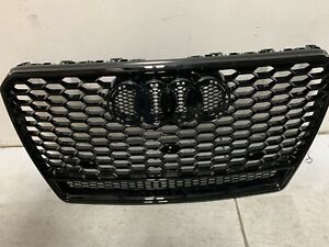 For Audi A7 S7 RS7 Style 2011-2015 Front Honeycomb Mesh Grill Grille W/ Quattro