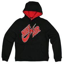 Nike Air Max Swoosh Street Urban Sudadera Con Capucha SKATER Negro Rojo M