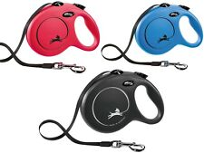 Flexi New Classic Gurt L Gurt-Roll-Leine bis 50 Kg schwarz blau rot Länge 8 m