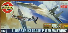 Airfix Then & Now F-15E Strike Eagle P-51D Mustang A50041 Model Kit 1:72