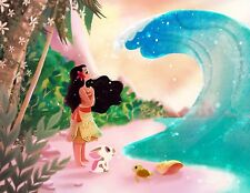 Disney WonderGround Gallery Ocean is Calling Moana Postcard by Eunjung June Kim