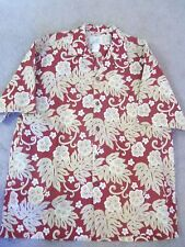HO ALOHA HAWAIIAN SHORT SLEEVE MEN'S SHIRT SZ L COTTON & POLYESTER