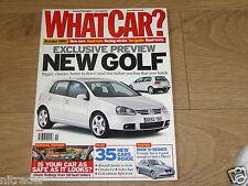 WHAT CAR MAGAZINE OCTOBER 2003  FREE UK POSTAGE