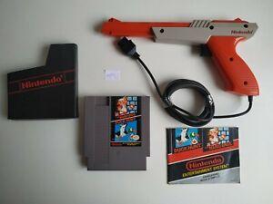 Pistolet Zapper + Duck Hunt + Super Mario Bros + Notice sur NES !!