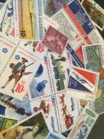 40 MNH OLD RETRO All Different 10 cent stamps...singles and se tenant issues