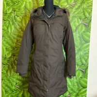 The North Face HyVent Women's Parka Down Puffer Jacket Coat Hooded Fur Black M