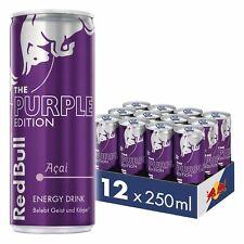12x250ml Red Bull Energy Drink Acai-Beere Dose Getränke Purple Edition inc Pfand
