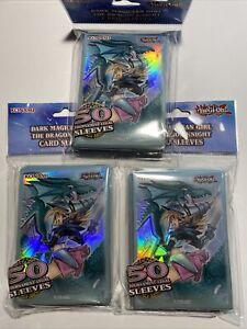 Lot Of 3 Bags Yugioh Dark Magician Girl / The Dragon Knight Card Sleeves 150PCS