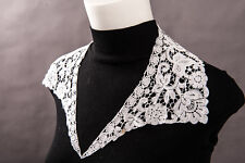 Vintage Victorian Cotton Fine Lace Collar White 70mm Deep Floral 660mm Lovely!