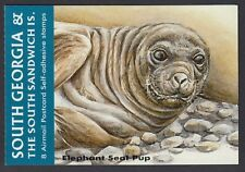 SOUTH GEORGIA : 2004 BOOKLET-Elephant Seal Pup self-adhesive  SGSB1 MNH