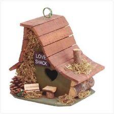 HOME GARDEN DECOR LOVE SHACK HANGING BIRD HOUSE BIRDHOUSE WOOD
