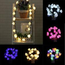 2.2 Meter Battery Powered 20 LED Rose Flower String Fairy Lights Wedding