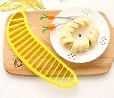Cortador Rebanador de Platano de Plastico Ideal para Ensaladas de Frutas.