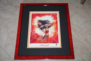 Adam Hughes AH! LE SIGNED DC Comics JLA Art Print Wonder Woman Strength #104/150