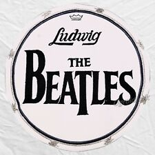 The Beatles Drum Head Ludwig Big Logo Embroidered Patch John Lennon Ringo Starr