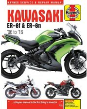 Haynes Manual for Kawasaki ER-6f & ER-6n (2006 - 2016) owners workshop (HM4874)