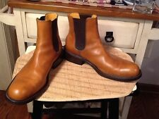 Vintage COACH MEN'S J977 ARCHIBSLD Tan LEATHER  ANKLE BOOTS 13D MADE IN ITALY