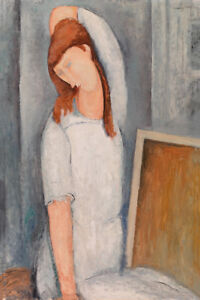 Jeanne Hébuterne by Amedeo Modigliani 60cm x 40cm Art Paper Print