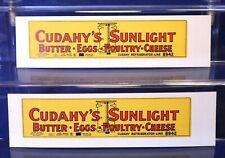 Cudahy's Sunlight Refrigerator /HO Cardboard Billboard Sides for Freight Car Kit