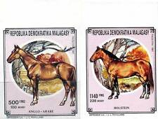 MADAGASCAR 1991 HORSES IMPERF (large MARGINS) MNH CV$16.00 ANIMALS