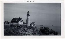 1966 Original Photograph PHOTO Portland Head Light CAPE ELIZABETH MAINE ME