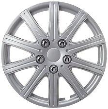 14'' Rally Sport Silver Car Wheel Trim Hub Cap Covers Multi-Spoke + Valve Caps