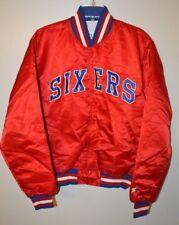 Rare Vintage 80s 90s NBA Philadelphia SIXERS 76ers Satin Starter Jacket Mens L