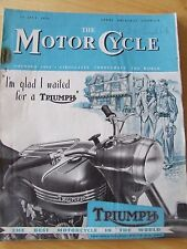THE MOTORCYCLE MAGAZINE JUL 1950  BETTER QUALITY FUEL CORNISH COAST EXPERTS GRAN