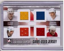 MARCEL DIONNE PETER STASTNY PAUL COFFEY MARIO LEMIEUX ITG Decades 80s Jersey SP