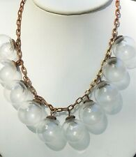 RARE VINTAGE HUGE GLASS BALLS ART DECO ART GLASS NECKLACE CHOKER