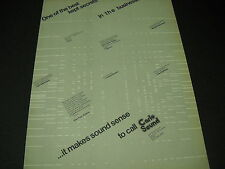 CARLO SOUND 1974 promo ad Quotes Don Henley Marshall Tucker Wet Willie Glen Frey